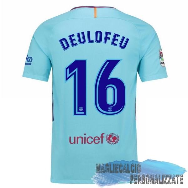 5f2626093 Maglie Calcio Store Nike NO.16 Deulofeu Away Maglia Barcellona 17-18 Blu