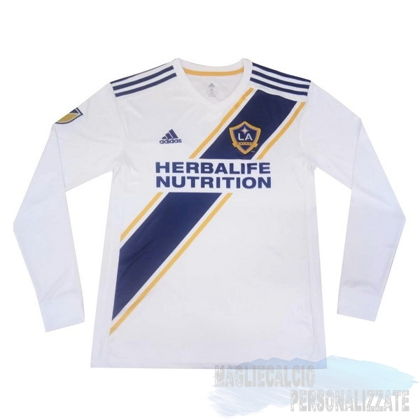 Maglie Calcio Store Adidas Home Manica lunga Los Angeles Galaxy 2019 2020 Bianco