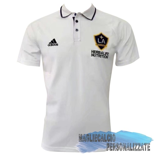 Maglie Calcio Store adidas Polo Los Angeles Galaxy 17-18 Bianco