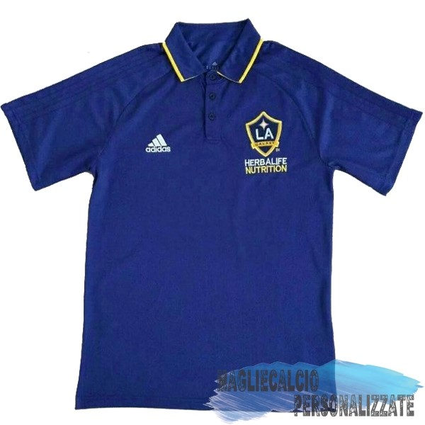 Maglie Calcio Store adidas Polo Los Angeles Galaxy 17-18 Blu