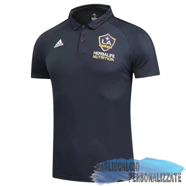 Maglie Calcio Store adidas Polo Los Angeles Galaxy 17-18 Nero