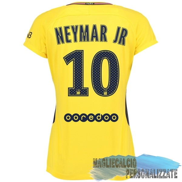 Maglie Calcio Store Nike NO.10 Neymar JR Away Maglia Donna Paris Saint Germain 17-18 Giallo