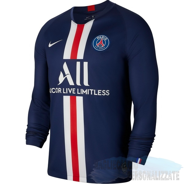 Maglie Calcio Store Nike Home Manica lunga Paris Saint Germain 2019 2020 Blu