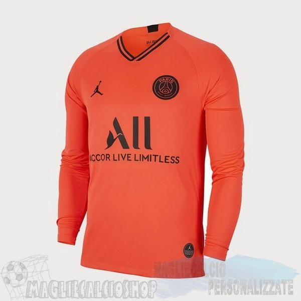 Maglie Calcio Store JORDAN Away Manica lunga Paris Saint Germain 2019 2020 Oroange