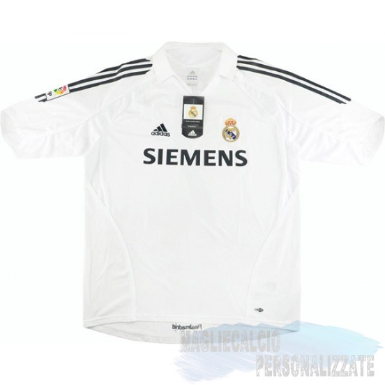 Maglie Calcio Store Adidas Home Maglia Real Madrid Vintage 2005 2006 Bianco