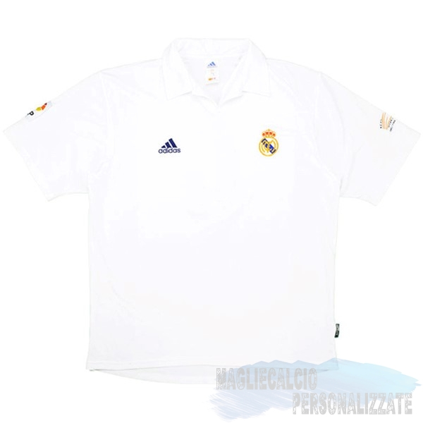 Maglie Calcio Store Adidas Home Maglia Real Madrid Vintage 2001 2002 Bianco