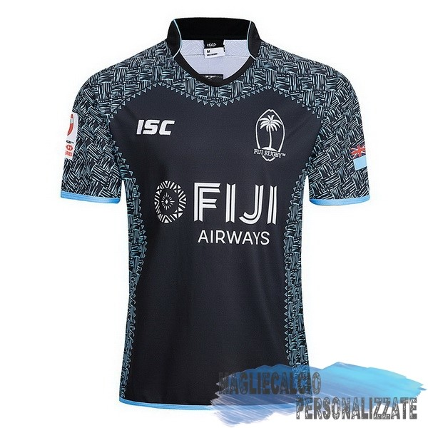 Maglie Calcio Store ISC Away Rugby Maglia Fiyi 2018-19 Nero
