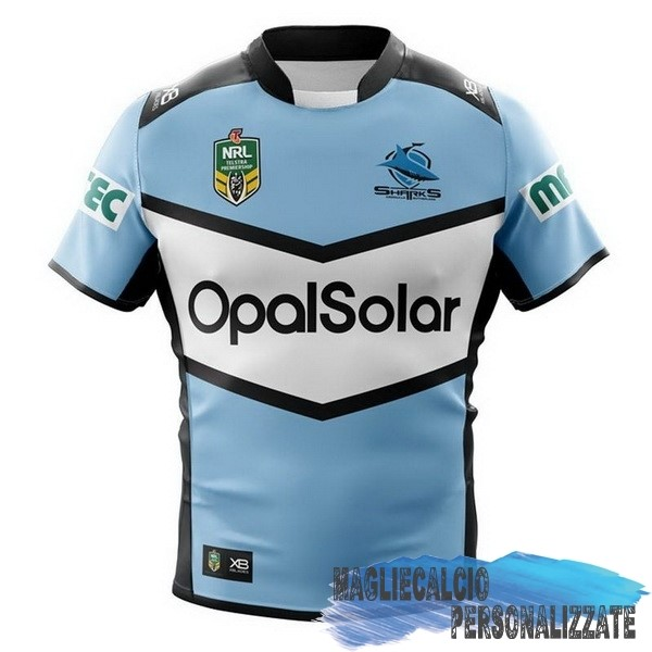 Maglie Calcio Store Xblades Home Rugby Maglia Cronulla Sharks 2018 Blu