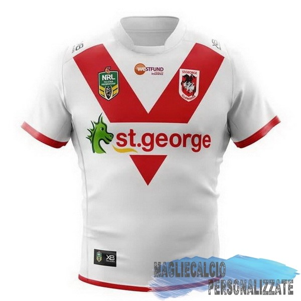 Maglie Calcio Store Xblades Home Rugby Maglia St.George Illawarra Dragons 2018 Bianco